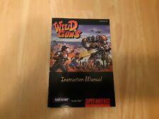 Snes Wild Guns Manual Only