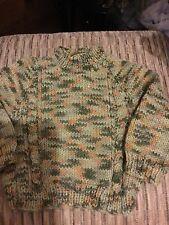 Les bébés pull vert mix fait main tricot bébé garçon 3-6 mois vert nouveau