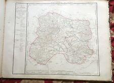 Dépt 51 - Carte Originale de 1790-1818 Gravure sur Cuivre Aquarellée 73 x 56 cm