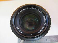 NIKON JAPAN EL-NIKKOR 50mm 1:28 LENS NICE OPTICS  AS PICTURED &FT-1-A-36