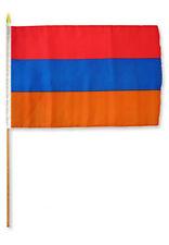 """12x18 12""""x18"""" Wholesale Lot of 12 Armenia Stick Flag wood staff"""