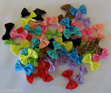 50 Mixed colours Satin Ribbon Bows embellishmnets crafts, cards