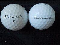 "10 TAYLORMADE ""TOUR PREFERRED"" - Golf Balls - ""PEARL"" Grade."