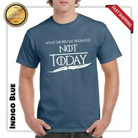 What do you say to death? games of thrones funny gift t shirt dad fathers day T