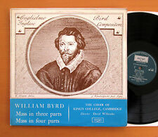 ZRG 5362 William Byrd Mass In Three Four Parts King's College ARGO Stereo NM/EX