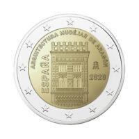 """Spain 2 Euro commemorative coin 2020 """"Architecture in Aragon"""" - UNC *NEW*"""