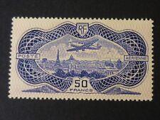 FRANCE 1936 50fr ultra/rose AIR 'Banknote' Superb Mint hinged SG 541