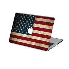 """Rubberized USA Flag Hard Case Cover For Macbook Pro 13""""15""""Touch Bar Air 11""""13""""12"""