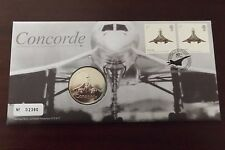 GB QEII FDC PNC B/UNC 2009 CONCORDE 40TH ANNIVERSARY COVER & MEDAL ROYAL MINT
