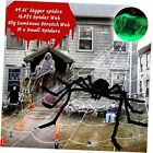 """Outdoor Halloween Giant Spider Decorations Set, 200"""" Triangle Web+49"""" Large"""