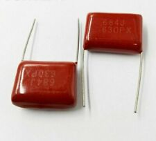 CBB Metallized Capacitor Film Glaze Glass 630V Rated Red Color 2 Pins 10Pcs/Lots