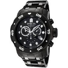 Invicta Pro Diver Men's 48mm Chronograph Black Steel Bracelet & Case Watch 0076