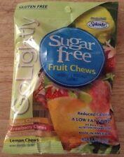 GO LIGHTLY SUGAR FREE FRUIT CHEWS CANDY orange,strawberry & Peach