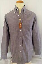 $650.00 New & Classy Loro Piana Cotton Men's 41 Grey Dress Shirt *Make An Offer*