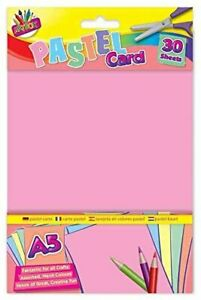 30 Sheets A5 Pastel Card Assorted Colours