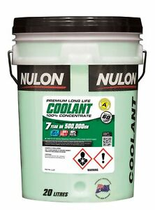 Nulon Long Life Green Concentrate Coolant 20L LL20 fits Toyota Hiace SBV 2.4 ...