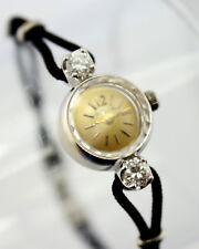 14K WHITE GOLD BULOVA LADIES VINTAGE DRESS WATCH .50CTW DIAMONDS NO RES #3844-2