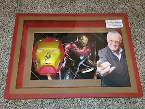Stan Lee Autographed Framed Iron Man Mask With COA