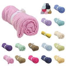 80*100CM Pure Cotton Baby Cellular Soft Blanket Pram Cot Bed Colour Basket Crib