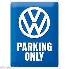 Blechschild 30 x 40, VW Parking Only, Werbeschild Art. 23135