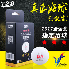 6 X RITC 729 3-STAR 40+ New Plastic seamless White Table Tennis Balls