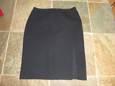 French Connection Tailored Wool Mix Black Skirt with side split Size 8