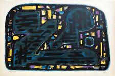 """Alfred MANESSIER - """"Sans-titre"""" - 1950 - Lithographie originale signée"""