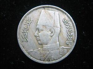 EGYPT 5 Milliemes 1938 King Farouk 118# Money Coin