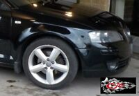 Brand new O/S front wing for Audi A3 2003-2009, painted in PHANTOM BLACK LZ9Y