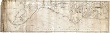 """1837 LARGE 16""""x52"""" U.S. Nautical chart Atlantic and Gulf Coast Wall Poster Map"""