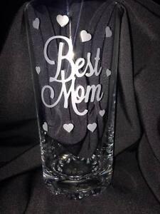 Engraved Best Mom Highball Glass - New - Handmade