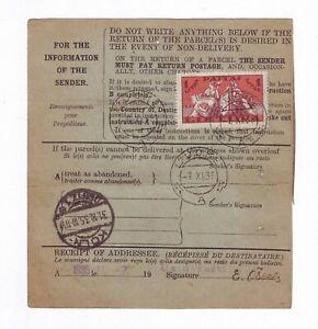 1935 Lithuania Money Transfert Trasnfer Kybartai to Germany Revenue cancel Post