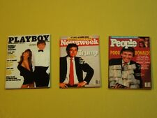 "Dollhouse Miniature 1"" 1/12 Scale Trump Magazines - 3 Magazines: Playboy People"