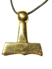 BUTW REAL BRONZE Thors Hammer Norse Viking  Odin Celtic Pendant Necklace 7863A