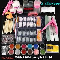 Pro Acrylic liquid Nail Art Tool Kit Set Powder Nail Sticker Set Pump Nail Brush