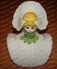 Vintage Musical Daisy Doll (Porcelain) Flower Garden, Music Box, Wind up, Taiwan