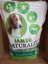 BNIP IAMS Naturally Adult Complete Dog Food Lamb & Rice Free P&P 800g