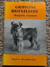 Rare Griffon Bruxellois Dog Book By Marjorie Cousens 1St 1960 Brussels Griffon