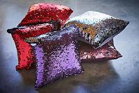 Magic Sequins & Velvet 2 Colour Reversible Cushion Cover or Filled Cushion 43cm