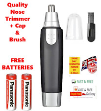 Nose Trimmer Shave New Clippers For Nasal Hair + Free Batteries *Fast & Free*
