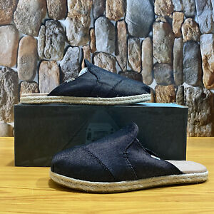 TOMS NOVA BLACK HEAVY DENIM WOMEN SIZE 8.5