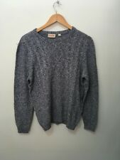BNWT ''EDGETEX'' Unisex Cotton Jumper Navy/White Lightweight Cable Style  Size L