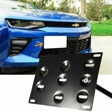 Bumper Tow Hook License Plate Bracket Mount Holder For 2016-up Chevrolet Camaro