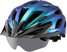 ROCKBROS Fahrradhelm Schutzhelm MTB Rennrad Radhelm Integriert Magnet Brillen