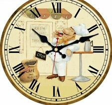 Wall Clocks Silent Durable Home Kitchen Decorative Art Watches Chef Designed New