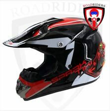 Roadriders' Black Spark Tiki HNJ Off Road Motocross Helmet