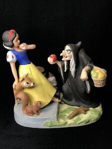 Vtg 1985 Disney Heroes & Villains Ceramic Figurine SNOW WHITE Limited RARE Witch