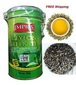IMPRA - PURE CEYLON GREEN TEA - 100% NATURAL / SMALL LEAF 200G - FREE SHIPPING