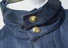 $4150 NWT BRIONI Super 150's Wool Linen Jacket Leather Trim Medium 50 Euro 40 US