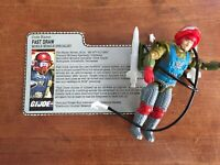 1987 GI JOE FAST DRAW v1 COMPLETE WITH FILE CARD
